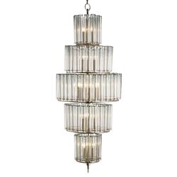 Industrial Loft Modern 18 Light Bud Vase Round 5 Tier Chandelier - Grand