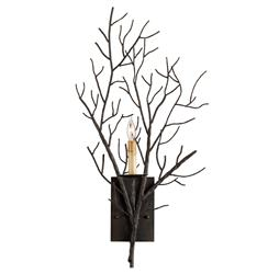 Winterfall Rustic Lodge Tree Branch Organic 1 Light Wall Sconce