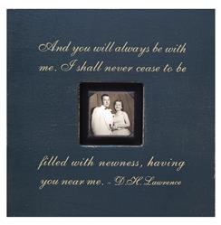 Painted Wood Rustic Photo Box - And You Will Always - Charcoal