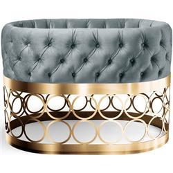 Aristot Modern Rondo Circle Gold Pedestal Dusty Blue Bassinet Combo