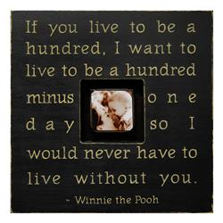 Painted Wood Rustic Photo Box - If You Live To Be A Hundred - Black