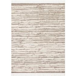 """Ladya Modern Classic Hand Knotted Ivory Wool Taupe Rug - 1'6"""" x 1'6"""""""