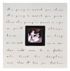 Painted Wood Rustic Photo Box - I'm Going to Watch You Shine - Cream