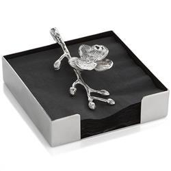 111869 Michael Aram White Orchid en Acier Inoxydable Serviette en papier support