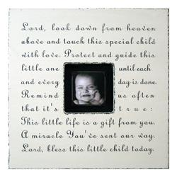Painted Wood Rustic Photo Box - Lord Look Down - Cream