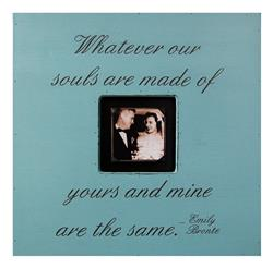 Painted Wood Rustic Photo Box - Whatever Our Souls Are Made Of - Turquoise