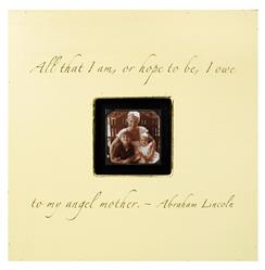 Painted Wood Rustic Photo Box - All That I Am - Cream