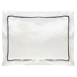 Gingerlily London St. Tropez Modern White Silk Sham - Boudoir