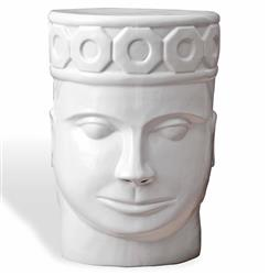 Imperial King Global Bazaar White Face Garden Stool | TZ-LCL302-I