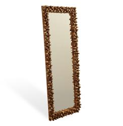Solid Chunky Wood Modern Rustic Tall Floor Mirror