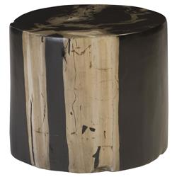 Phillips Collection Rustic Lodge Brown Petrified Look Resin Stool - Small