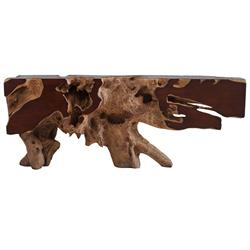 Phillips Collection Freeform Rustic Lodge Faux Bois Resin Console Table
