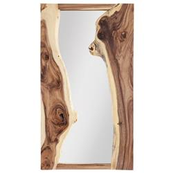 Phillips Collection River Rustic Lodge Chamcha Wood Rectangular Wall Mirror