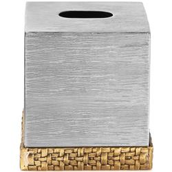 Michael Aram Palm Modern Classic Silver Stainless Steel Tissue Box Holder