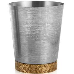 Michael Aram Palm Modern Classic Silver Stainless Steel Waste Basket