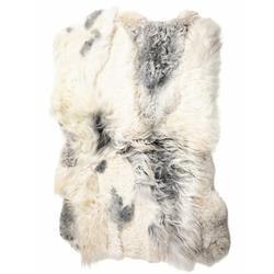 "Aria Modern Classic Grey Long Wool Rug - 3'11""x5'11"""
