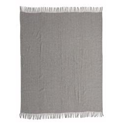 Zuri Modern Classic Grey and Brown Merino Wool Throw Blanket