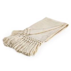 Nylah Modern Woven Baby Alpaca Throw Blanket - Ivory