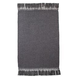 Nylah Modern Woven Baby Alpaca Throw Blanket - Charcoal Grey