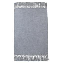 Nylah Modern Woven Baby Alpaca Throw Blanket - Blue Grey