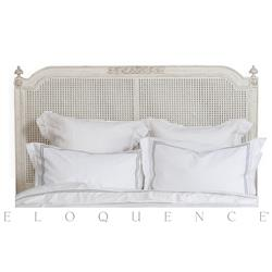 Eloquence® Blanka Cane King Headboard in Antique White | ELO-BDRC05K-HB-CN
