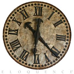 French Country Antique Brugge Town Decorative Large Clock