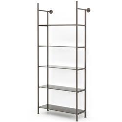 Charlotte Industrial Loft Grey Iron Single Modular Display Bookcase