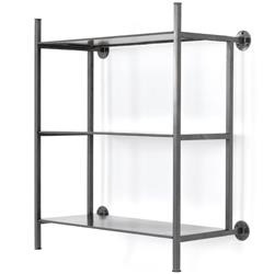 Charlotte Industrial Loft Grey Iron Wall Shelf