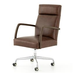 Dominique Modern Classic Brown Leather Office Chair
