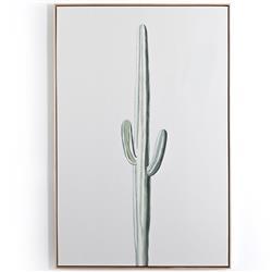 Jack Modern Classic Tall Cactus Print Wood Framed Wall Art Print