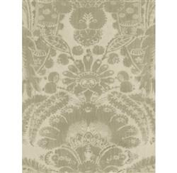 European Soft Damask Wallpaper - Taupe - 2 Rolls