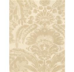 European Soft Damask Wallpaper - Sand - 2 Rolls