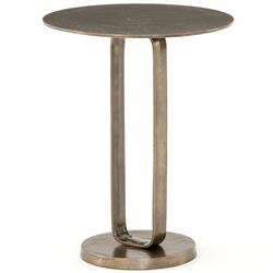Sam Modern Classic Bronze Aluminum Douglas Round Side End Table