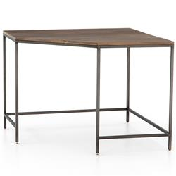 Theodore Industrial Loft Brown Wood Iron Corner Desk