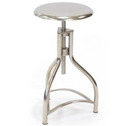 Eliza Modern Classic Silver Steel Round Counter Stool