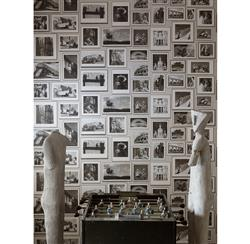 Modern Studio Photograph Gallery Wallpaper - Grey - 3  Rolls