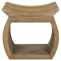 Florence Rustic Lodge Reclaimed Elm Wood Stool