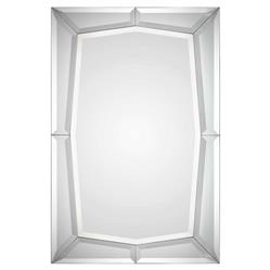 Lilly Modern Classic Rectangular Beveled Wall Mirror