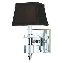 Cluny Modern Hollywood Brown Crystal 1 Light Sconce