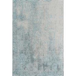 Rowan Hollywood Regency Blue Grey Distressed Patterned Rug - 2' x 3'