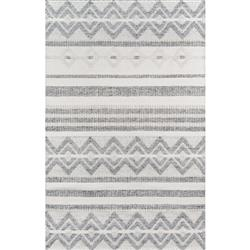 Callen Modern Classic Ivory Hand Woven Geometric Outdoor Patterned Rug - 2' x 3'