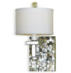 Sahara Coastal Beach Abalone Shell Modern 1 Light Sconce | AFL-7485-1W