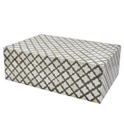 Viel Modern Classic Grey Faux Bone Decorative Box