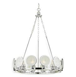 Cecil Nautical Compass Rose Modern Round Silver Chandelier | AFL-7780-12H