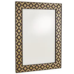 Claire Modern Classic Bronze Iron Frame Wall Mirror