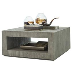 Eleanor Modern Classic Grey Teak Wood Square Coffee Table