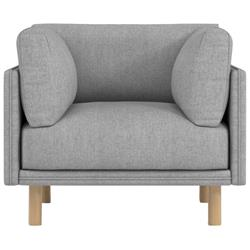 Rove Concepts Anderson Modern Classic Malmo Grey Upholstered Wood Arm Chair