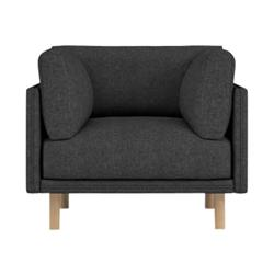 Rove Concepts Anderson Modern Classic Mora Black Upholstered Wood Arm Chair