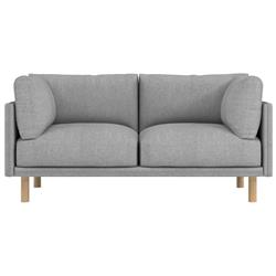 Rove Concepts Anderson Modern Classic Malmo Grey Upholstered Wood Loveseat