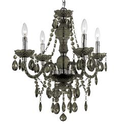 Zoe Global Bazaar Smoke 4 Light Mini Chandelier